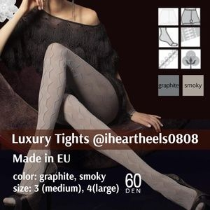 Luxury Thick Patterned Tights Pantyhose 60 Den